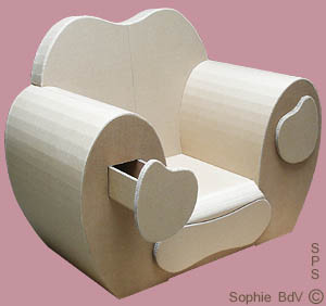 Club paperboard armchair