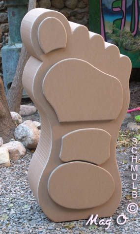 Cardboard furniture shaped feet